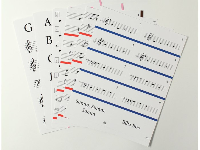 Music Makers: At the Keyboard Notation Game set 4